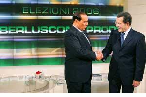 Display confronto Berlusconi - Prodi Elezioni 2006