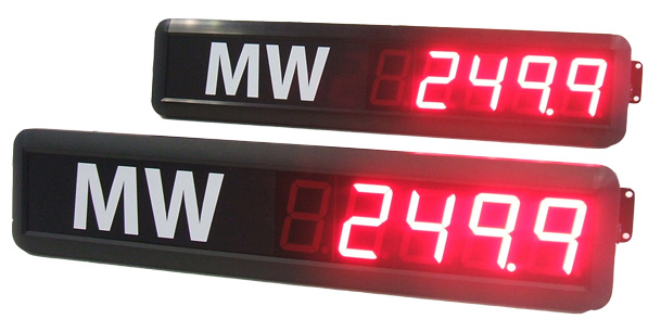Display a led per corrente consumata