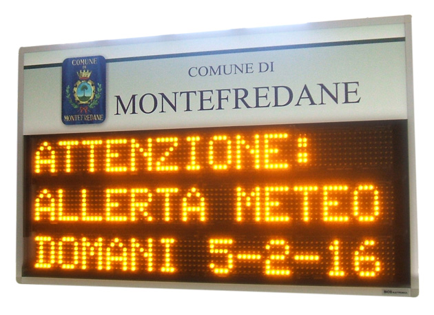 Display led informacittà allerte meteo