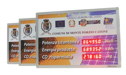 Display led per impianti fotovoltaici
