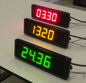 Large led clocks with time and date, ethernet interface