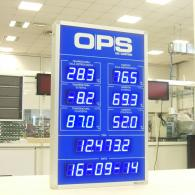 Display led blu temp humidity time date