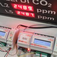 Display collegato a moduli ingresso analogico in corrente 4-20ma, tensione 0-10V