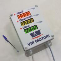 Display a led monitoraggio produzione pezzi industria motori