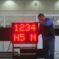 Display Andon-X alphanumeric profinet interface, takt time