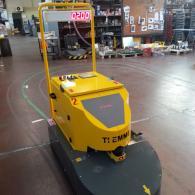 Display numerico montato su robot industriale AGV