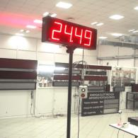 chromometer displays industrial environment