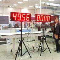 Cronometro CR23-4 su stativo-cavalletto minuti secondi protetto da esterno IP54