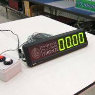 Cronometro a led per uso sportivo, con fotocellule