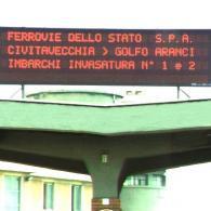 Display elettronico MX14-3-32 Porto di Civitavecchia, Ferrovie dello Stato