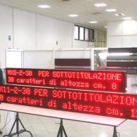 Tabellone LED multiriga con interfaccia seriale RS485, RS232, RS422