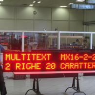large display for message in industrial process
