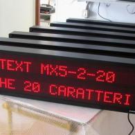 Tabellone LED profinet con messaggi variabili interfaccia ethernet