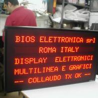 Display a led a 5 righe per messaggi industriali e comunicazione