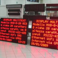Display led MX8-8-20 Modbus server TCP/IP o UDP. Produzione Italia
