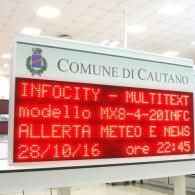 Display informazione e avvisi ai cittadini