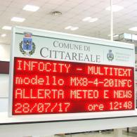 tabellone informativo per i cittadini Italia