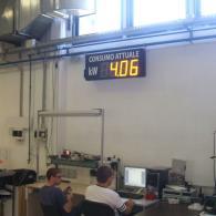 Display 4 cifre TD23-122C1 consumo attuale in kW per aziende