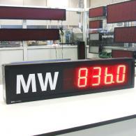 Riga led a 4 cifre TD10-80C1 per consumo energetico aziendale