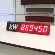 Display a led TD5-65C1-6C per monitoraggio consumi energetici