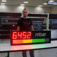 Display graphic-bar mbar pressure modbus RS485