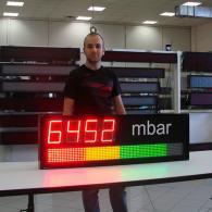 Display graphic-bar mbar pressure modbus RS485