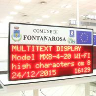 led display meteo alert internet interface