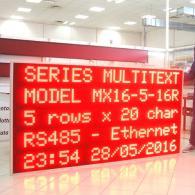Pannello informativo led MX16-5-16 stoccaggio carburanti deposito ENI