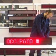 Display ML115C indicatore libero / occupato rosso con semaforo