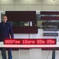 Striscia led ML167R con countdown per eventi lavorativi giorni ore minuti secondi