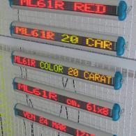 Display monolinea ML61R e ML61C multicolor profilo alluminio