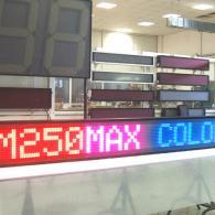 Display elettronico a led fullcolor rosso blu messaggi variabili da PC