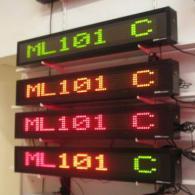 Led display ML101C colorati con profilo in alluminio nero protetto IP54