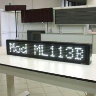 Striscia elettronica a led bianca pilotabile da computer. Produzione Italia