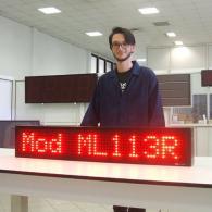 Display led ML113R rosso per informazione, messaggistica, pubblicità