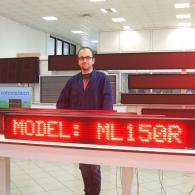 Tabellone led 150 cm a una riga di scrittura per composizione messaggi da PC