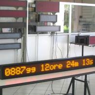Display elettronico a led con countdown per eventi commerciali, pubblicitari