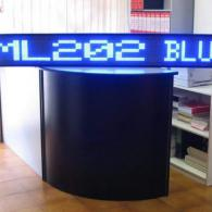 Striscia elettronica a led blu cm 202 pilotabile da PC software o radiocomando