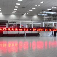 Led display ML911R, 9,1 metri per negozi commercio pubblicità e messaggi