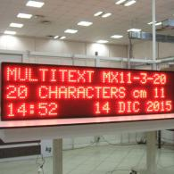 LED display boards automated messages (Alarms, Events)