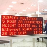 Cartellone elettronico MX11-5-20 con protocollo profinet per industrie