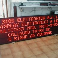 Display a led Modbus RTU Slave RS485 per industrie. Produzione Italia