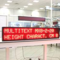 Giornale luminoso elettronico Multitext messaggi aziendali variabili