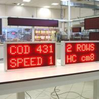 Tabellone multiriga per industrie con codici e velocità