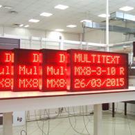 Display a led rosso a 3 righe profibus per industria e comunicazione