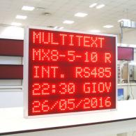 Display a led multiriga Modbus server TCP/IP rosso a 5 righe