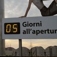 Display led gigante per countdown ad evento