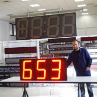 Display a led per peso carico gru