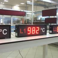 Display a led rossi per visualizzazione temperatura VS10-3 analogico 4-20 mA