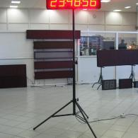 stopwatch display, minutes, seconds, cents